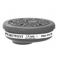 Karton (6 szt.) Filtr cząstek stałych P3 z łączeniem bagnetowym Portwest P941