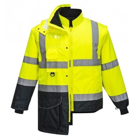 Kontrastowa kurtka ostrzegawcza 7w1 Portwest TRAFFIC S426