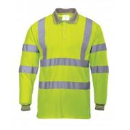 Koszulka odblaskowa polo długi rękaw Portwest S277