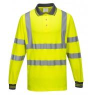 Koszulka polo odblaskowa długi rękaw Portwest COTTON COMFORT S271