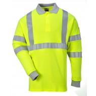 Koszulka polo ostrzegawcza trudnopalna i antystatyczna długi rękaw Portwest FR77