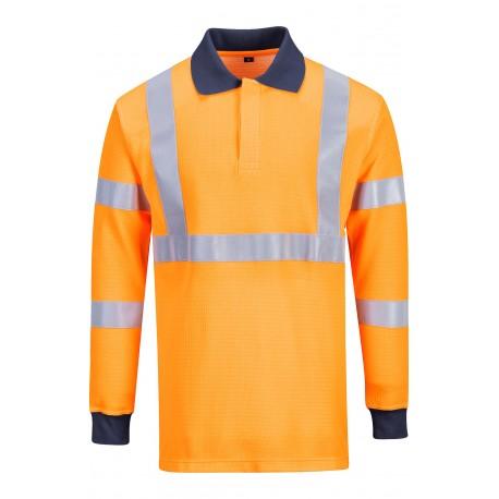 Koszulka polo ostrzegawcza trudnopalna Portwest FR76