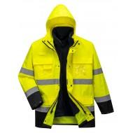 Kurtka p/deszczowa ostrzegawcza 3w1 Portwest LITE S162