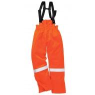 Spodnie na szelkach ocieplane trudnopalne i antystatyczne Portwest FR58