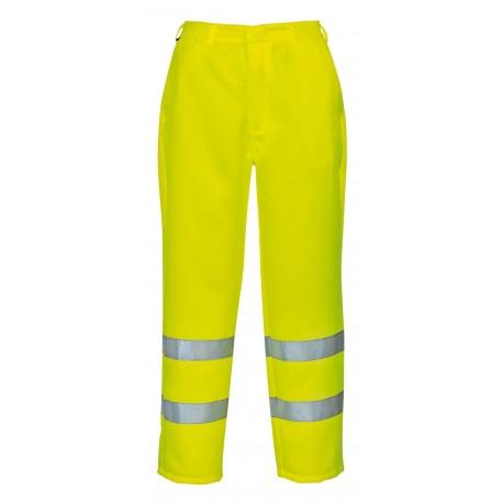 Spodnie odblaskowe poliestrowo-bawełniane Portwest E041