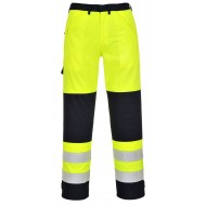Spodnie ostrzegawcze trudnopalne Portwest MULTI-NORM FR62