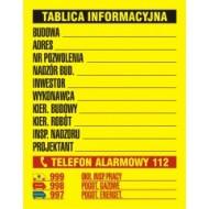 Tablica Budowlana tablica informacyjna 49,5x65