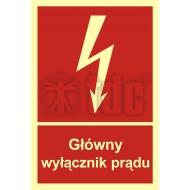 Tablica Główny wyłącznik prądu 10x14,8