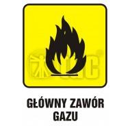 Tablica główny zawór gazu2  14,8x21
