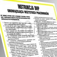 Tablica Instrukcja BHP przy obsłudze wózka akumulatorowego 24,5x35