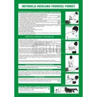 Tablica Instrukcja udzielania pierwszej pomocy 24,5x35