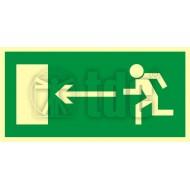 Tablica Kierunek do wyjścia drogi ewakuacyjnej w lewo 15x30