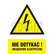 Tablica Nie dotykać ! Urządzenie elektryczne 14,8x21