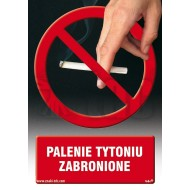 Tablica Palenie tytoniu zabronione 14,8x21