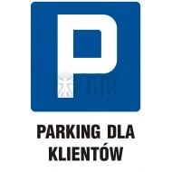 Tablica Parking dla klientów 33x50