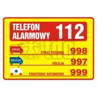 Tablica telefonów alarmowych  14,8x21