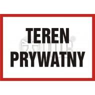 Tablica Teren prywatny 14,8x21