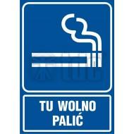 Tablica Tu wolno palic 21X29,7