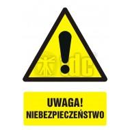 Tablica Uwaga! Niebezpieczeństwo 32x44
