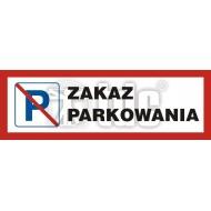 Tablica Zakaz parkowania 20 x 60