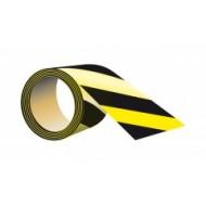 Taśma odblaskowa samoprzylepna żół-czarna 5x5