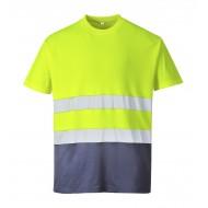 T-shirt dwukolorowy odblaskowy COTTON COMFORT S173