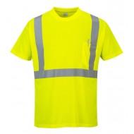 T-shirt ostrzegawczy z kieszonką Portwest S190