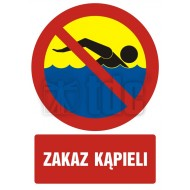 Zakaz kąpieli 66x93,3