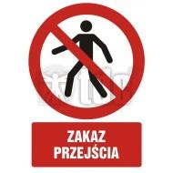 Zakaz przejścia 21 x 29,7